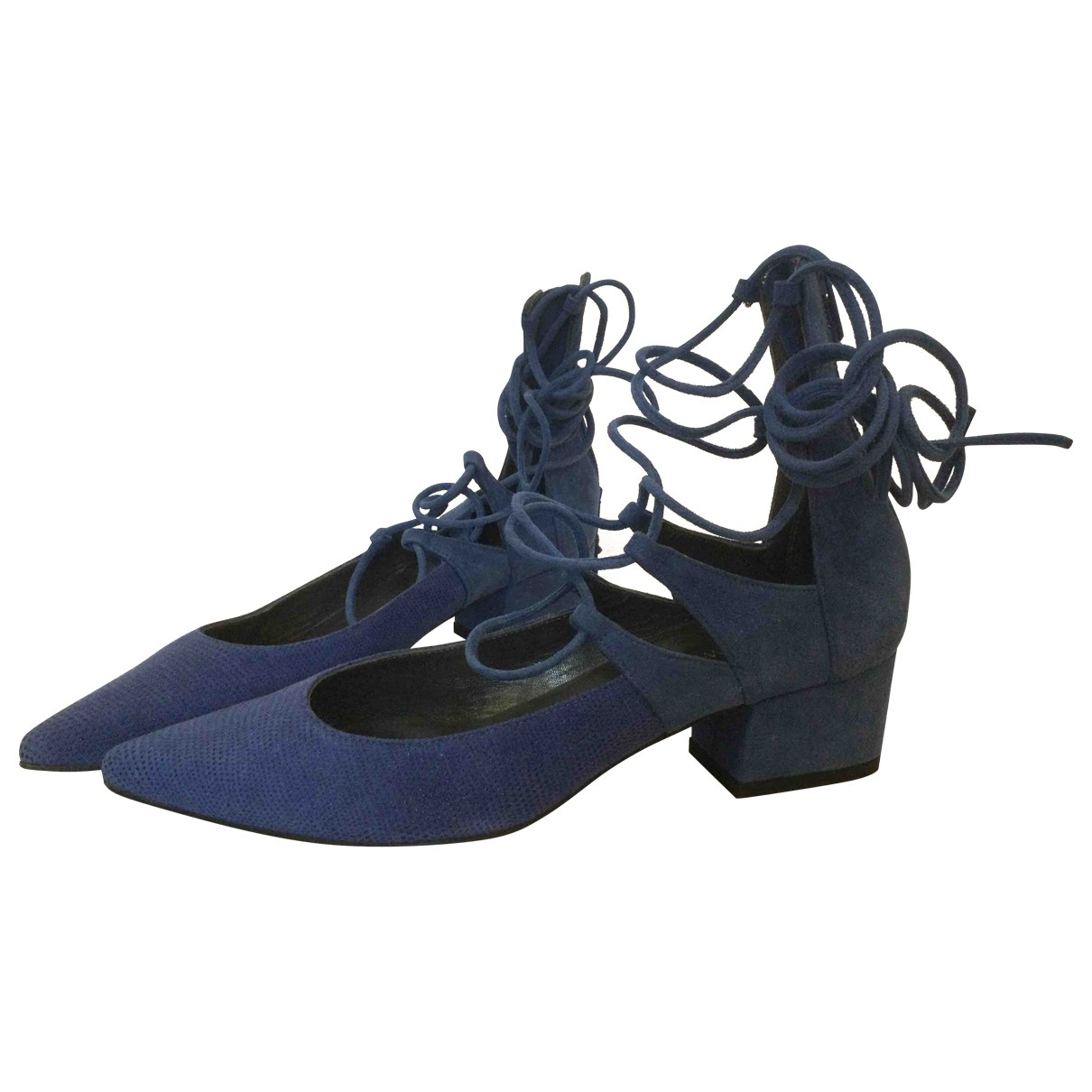 Stuart Weitzman - Escarpins   pour femme en cuir - bleu