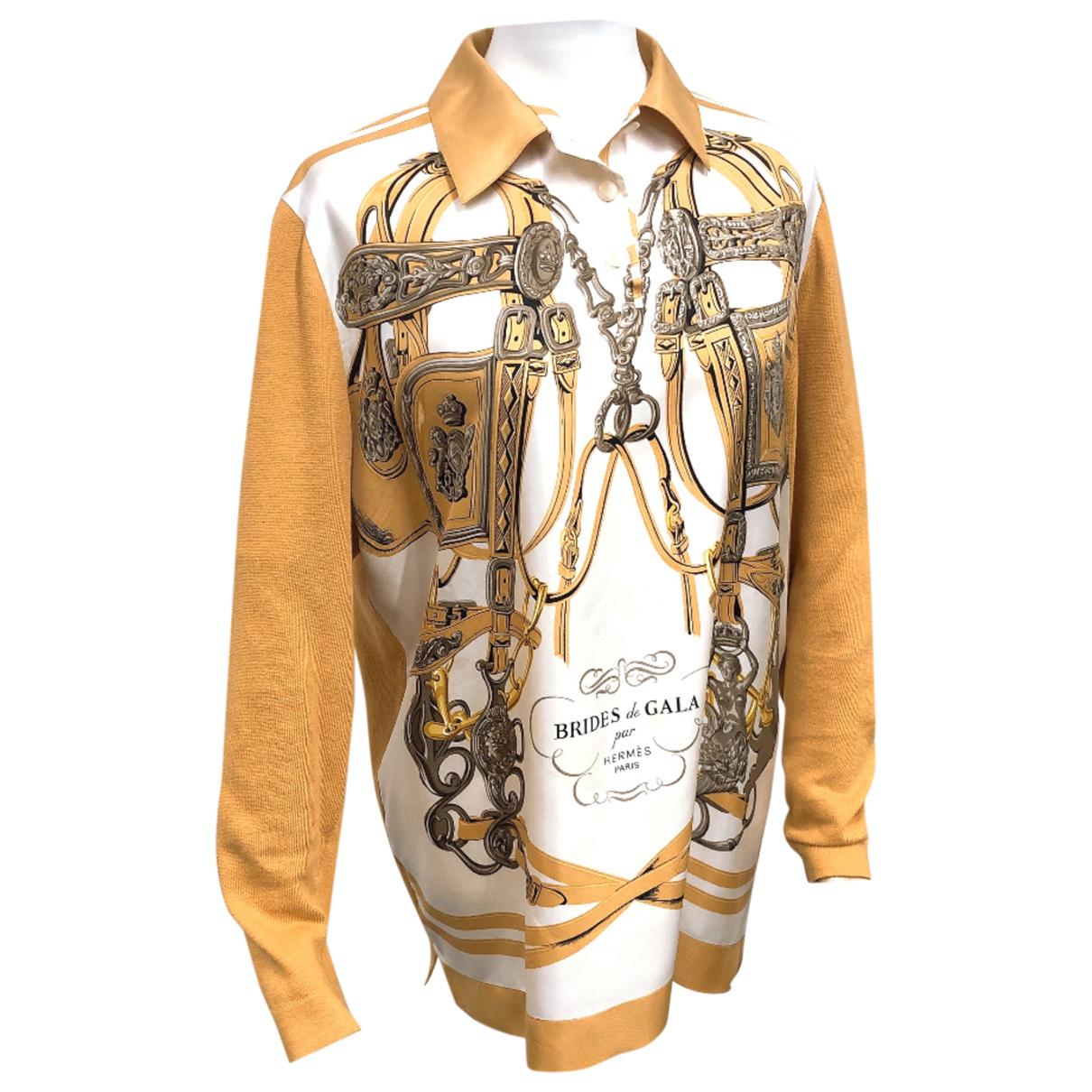 Hermès N Orange Silk Knitwear for Women 32 FR