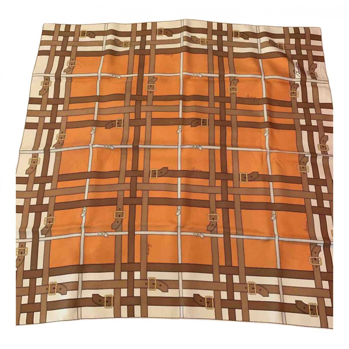 Burberry - Foulard   pour femme en soie - orange