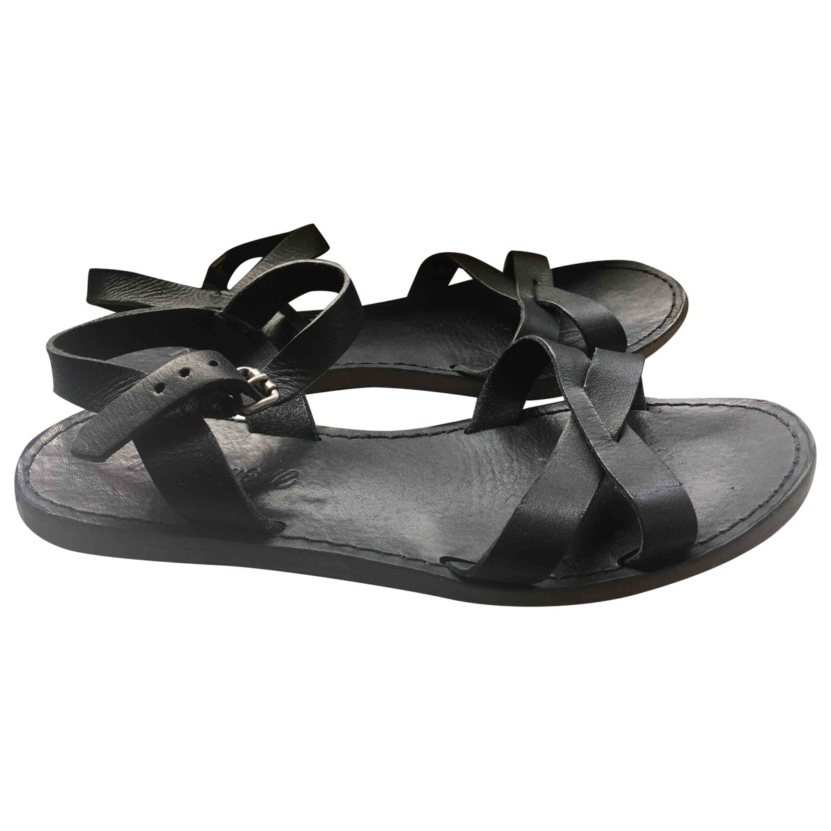 Madewell \N Black Leather Sandals for Women 5 US