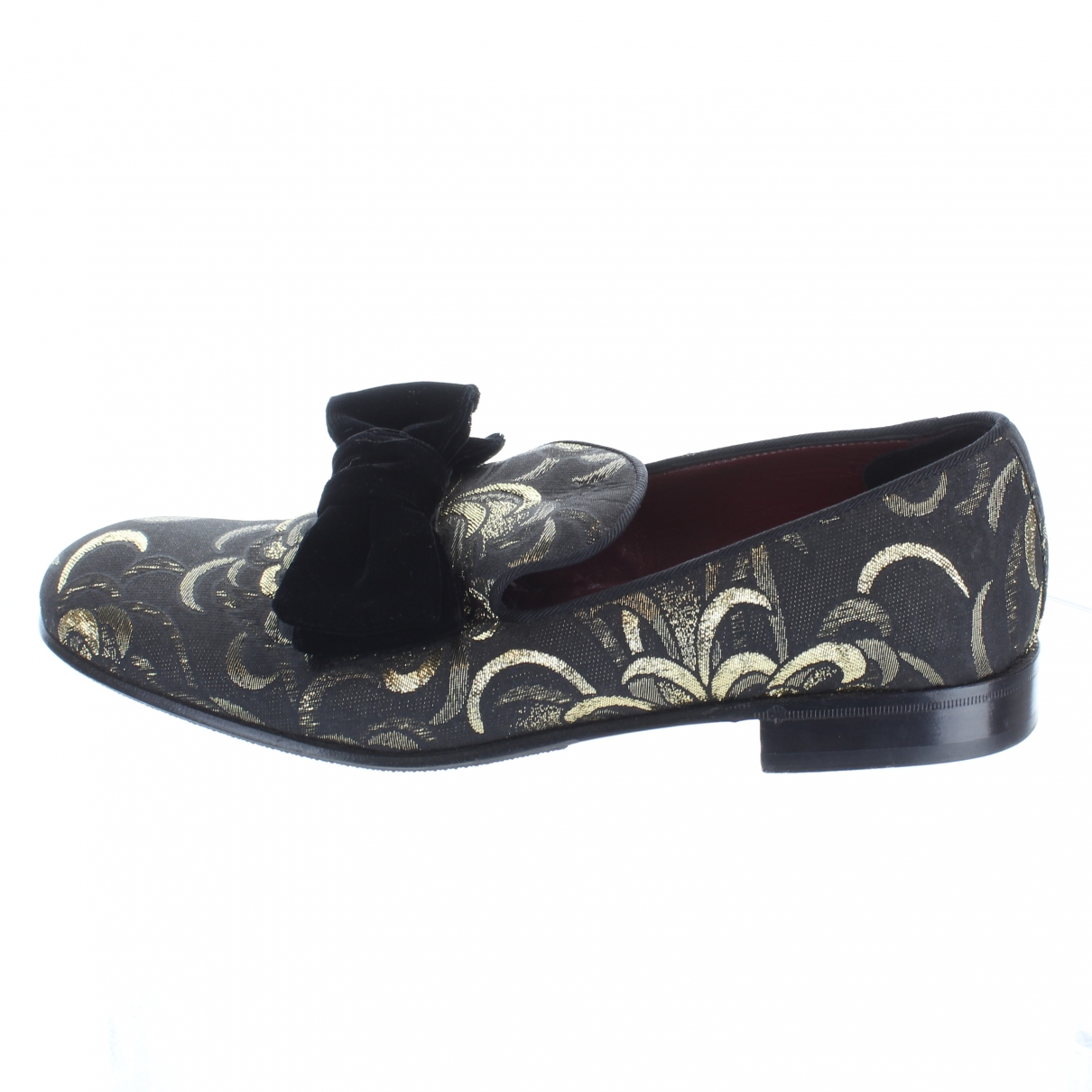 Dolce & Gabbana - Mocassins   pour homme en toile - noir