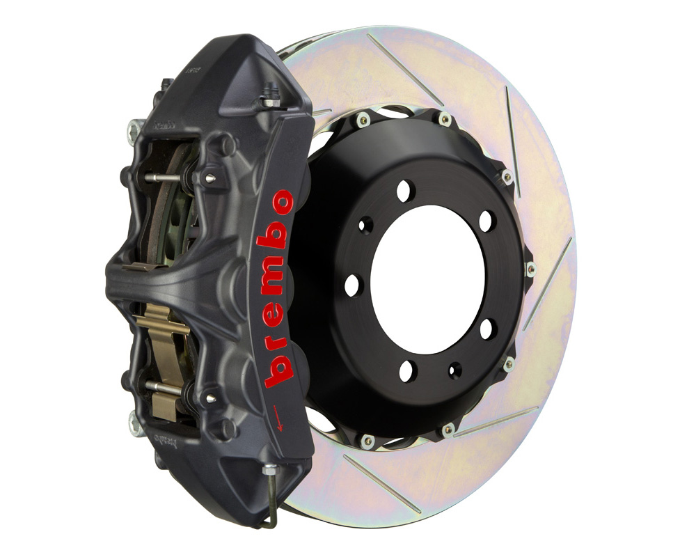Brembo GT-S 355x32 2-Piece 6 Piston Hard Anodized Slotted Front Big Brake Kit