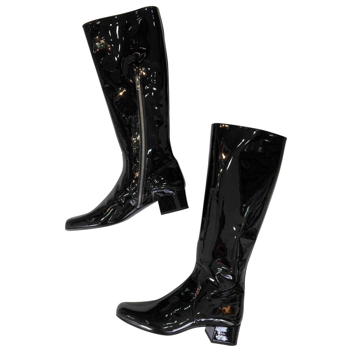 Saint Laurent \N Black Patent leather Boots for Women 41 EU