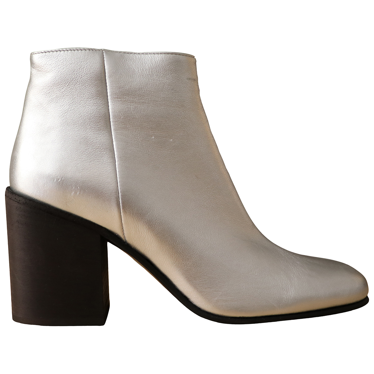 Acne Studios \N Silver Leather Ankle boots for Women 39 IT