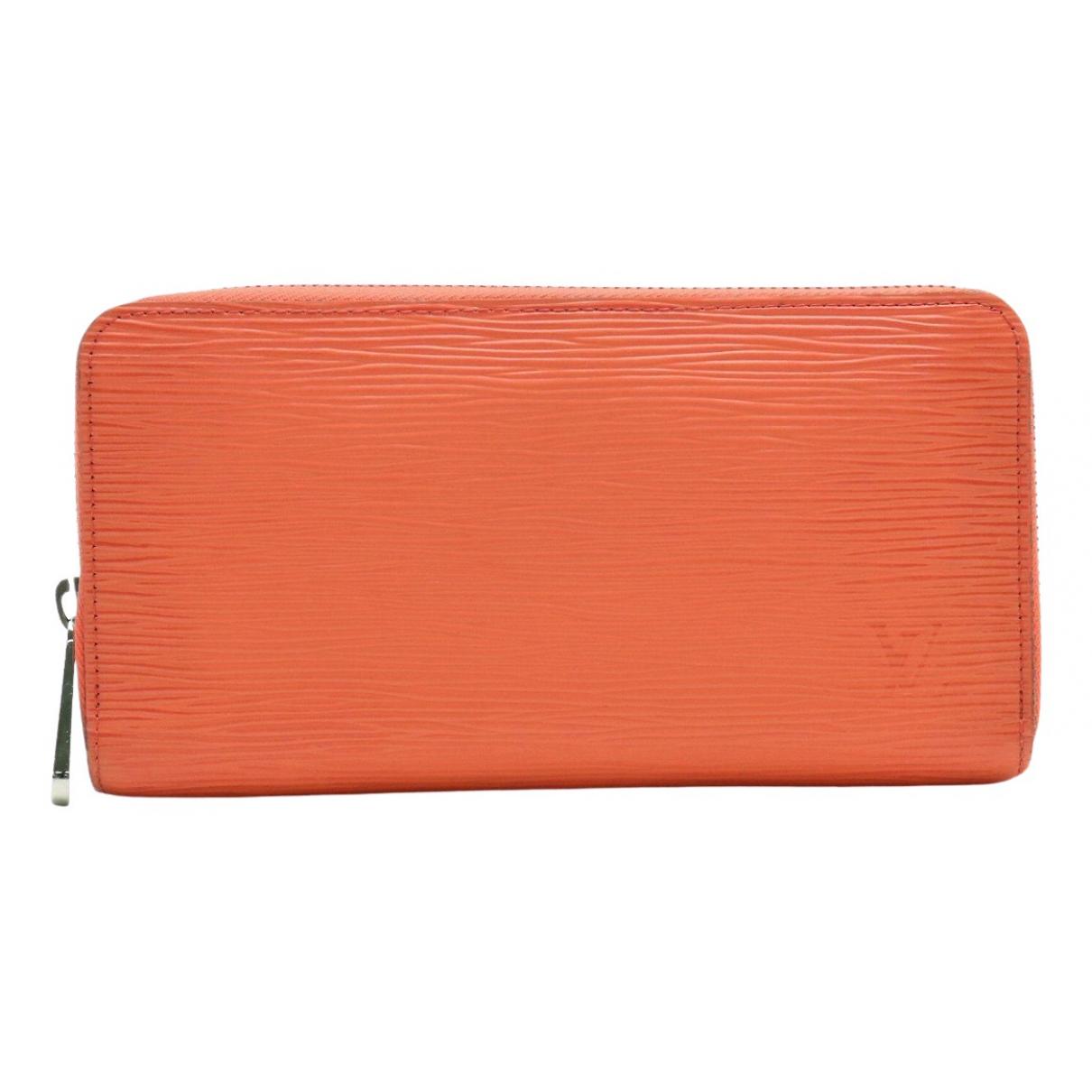 Louis Vuitton - Portefeuille Zippy pour femme en cuir - orange