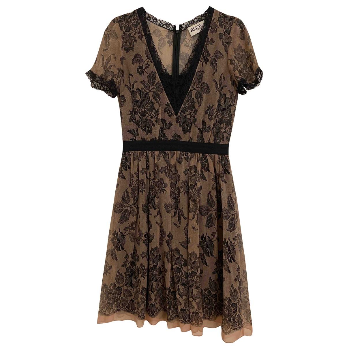Alice By Temperley \N Beige Silk dress for Women 6 UK