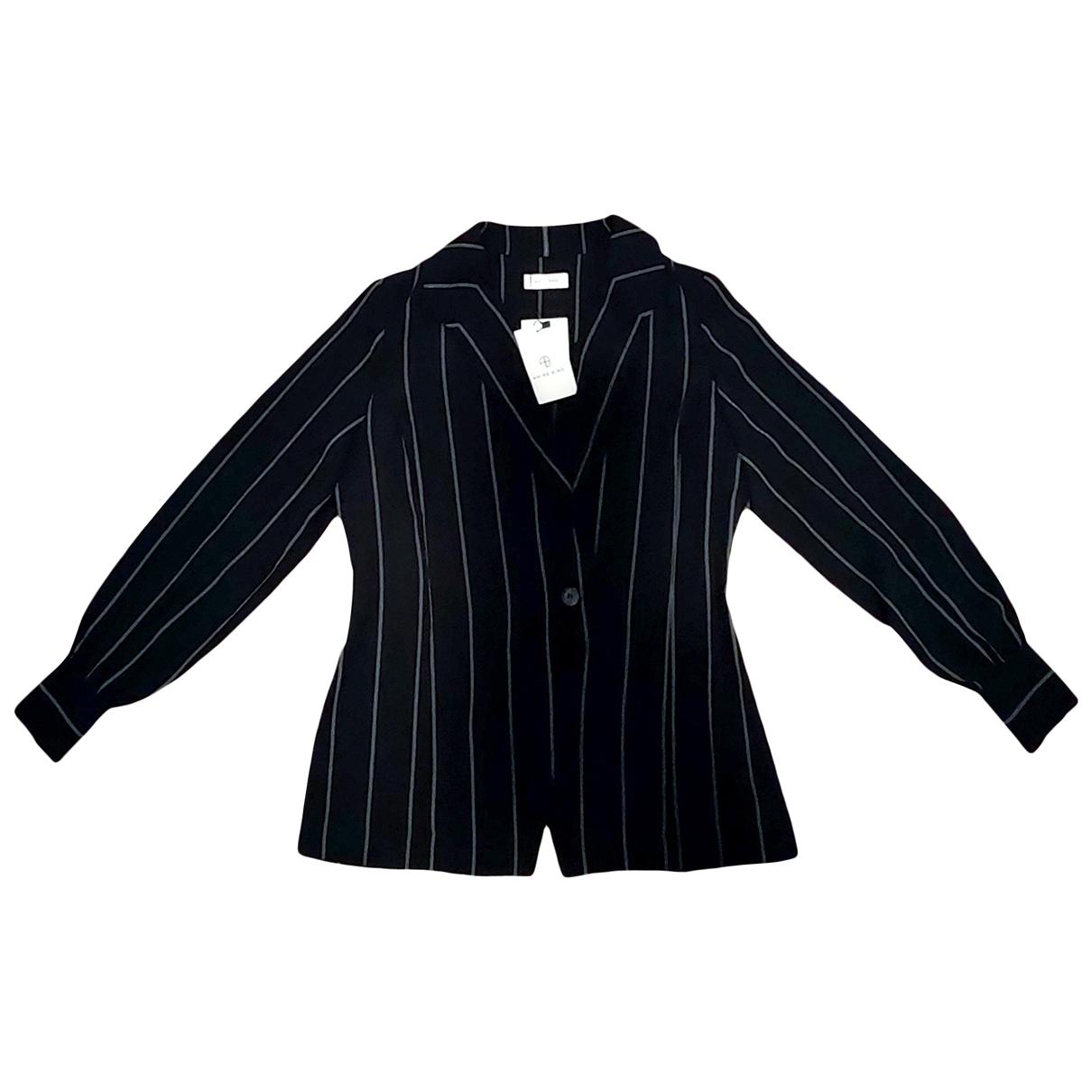 Anine Bing \N Jacke in  Schwarz Polyester