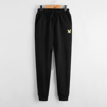 Boys Gold Eagle Sweatpants