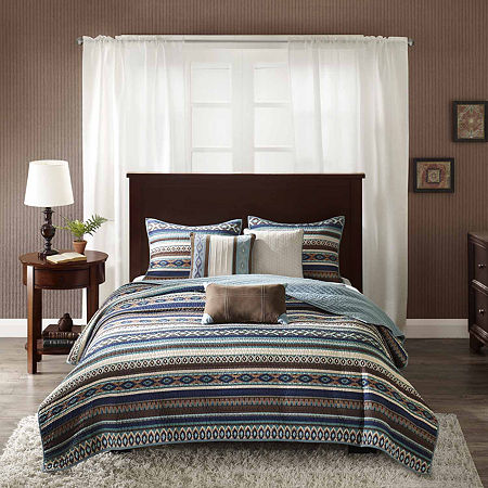 Harley 6-pc. Coverlet Set, One Size , Blue