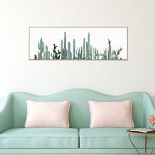 Wandmalerei mit Kaktus Muster ohne Rahmen