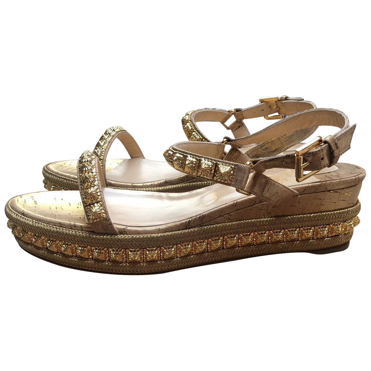 Sandalias de Cuero Christian Louboutin