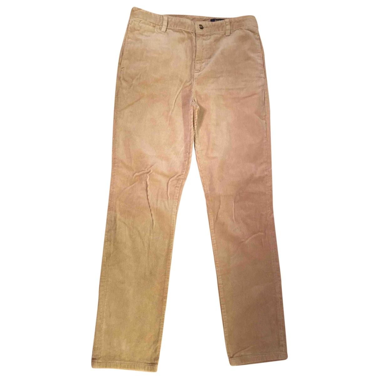 Polo Ralph Lauren \N Beige Velvet Trousers for Kids 20 years - XL FR