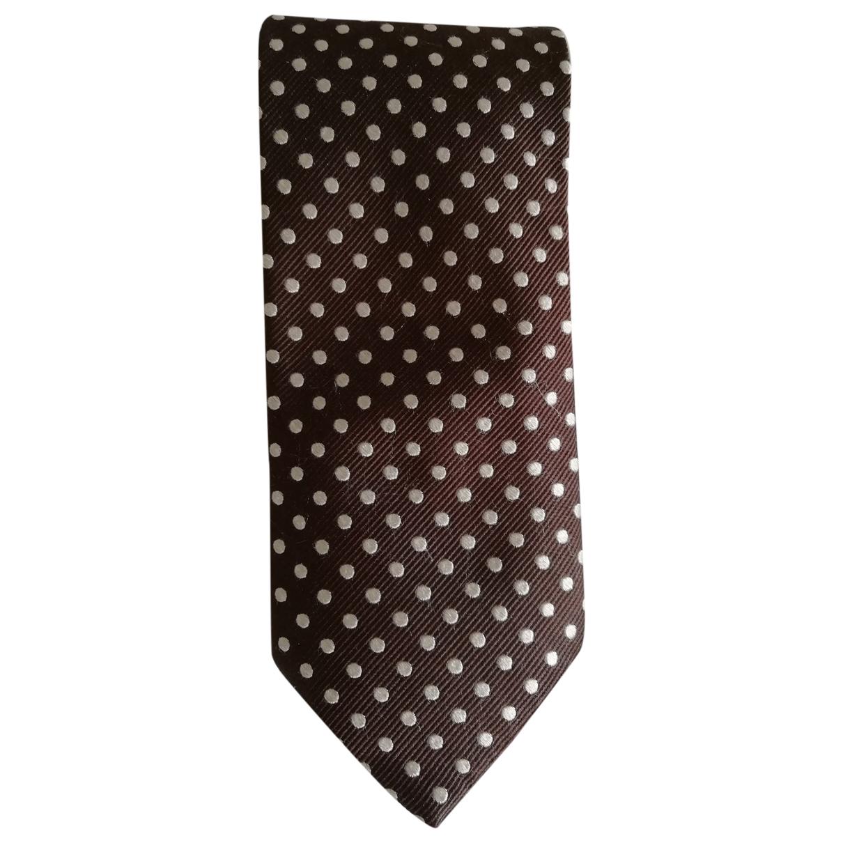 Emmanuelle Khanh - Cravates   pour homme en soie - marron