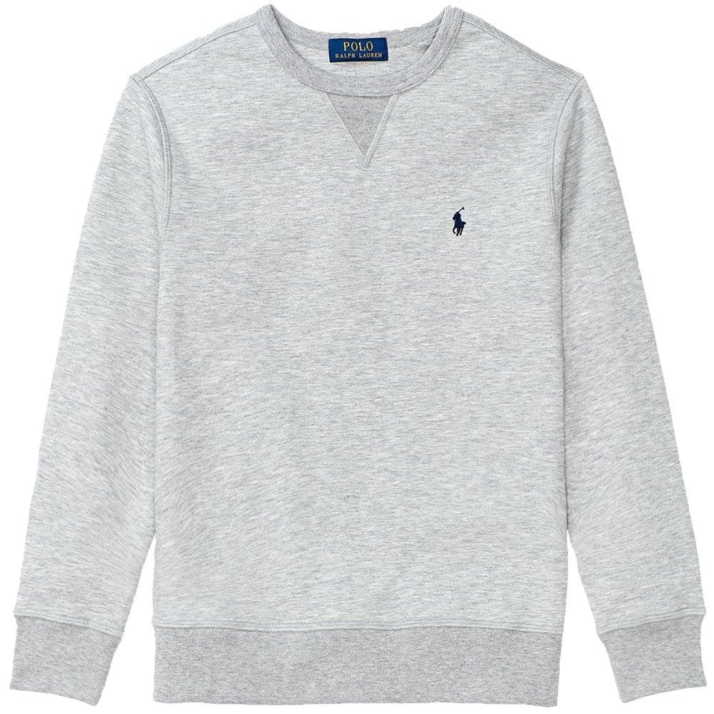Ralph Lauren Kids Logo Sweatshirt Colour: GREY, Size: 6 YEARS