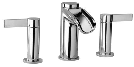 10214WFS-85 Two Lever Handle Widespread Lavatory Faucet With Waterfall Spout  Brushed Chrome