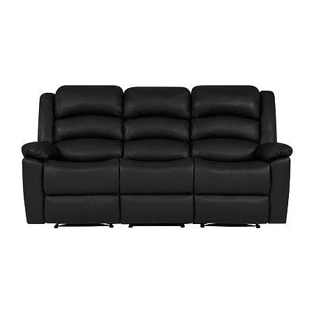Hairu 3 Seat Recliner Sofa, One Size , Black
