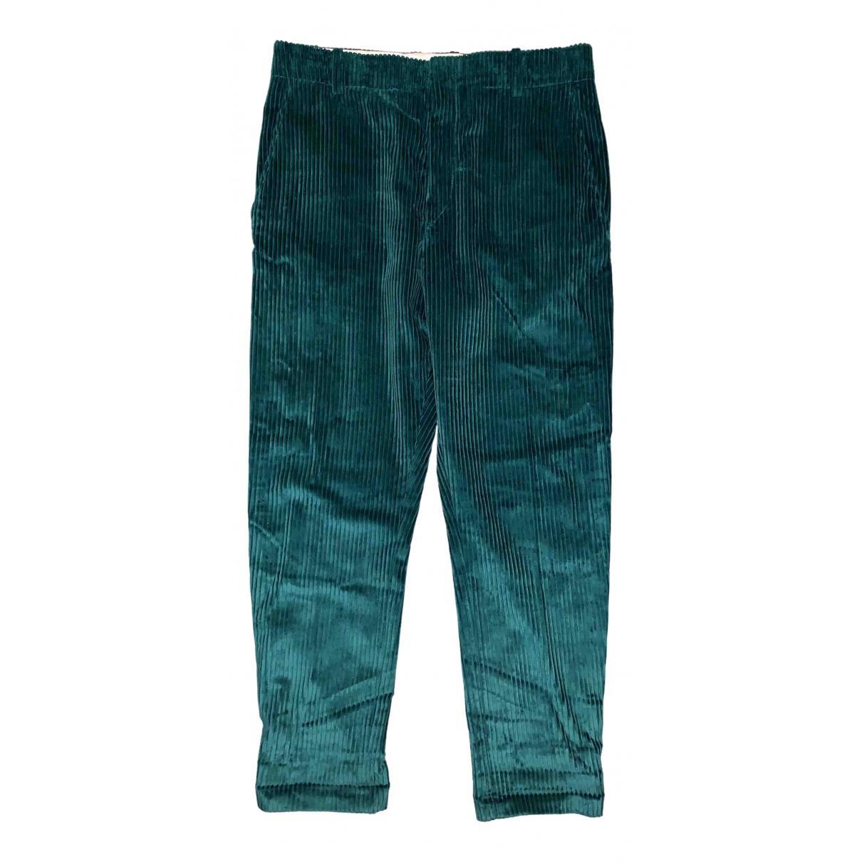 Isabel Marant N Green Velvet Trousers for Women 42 FR