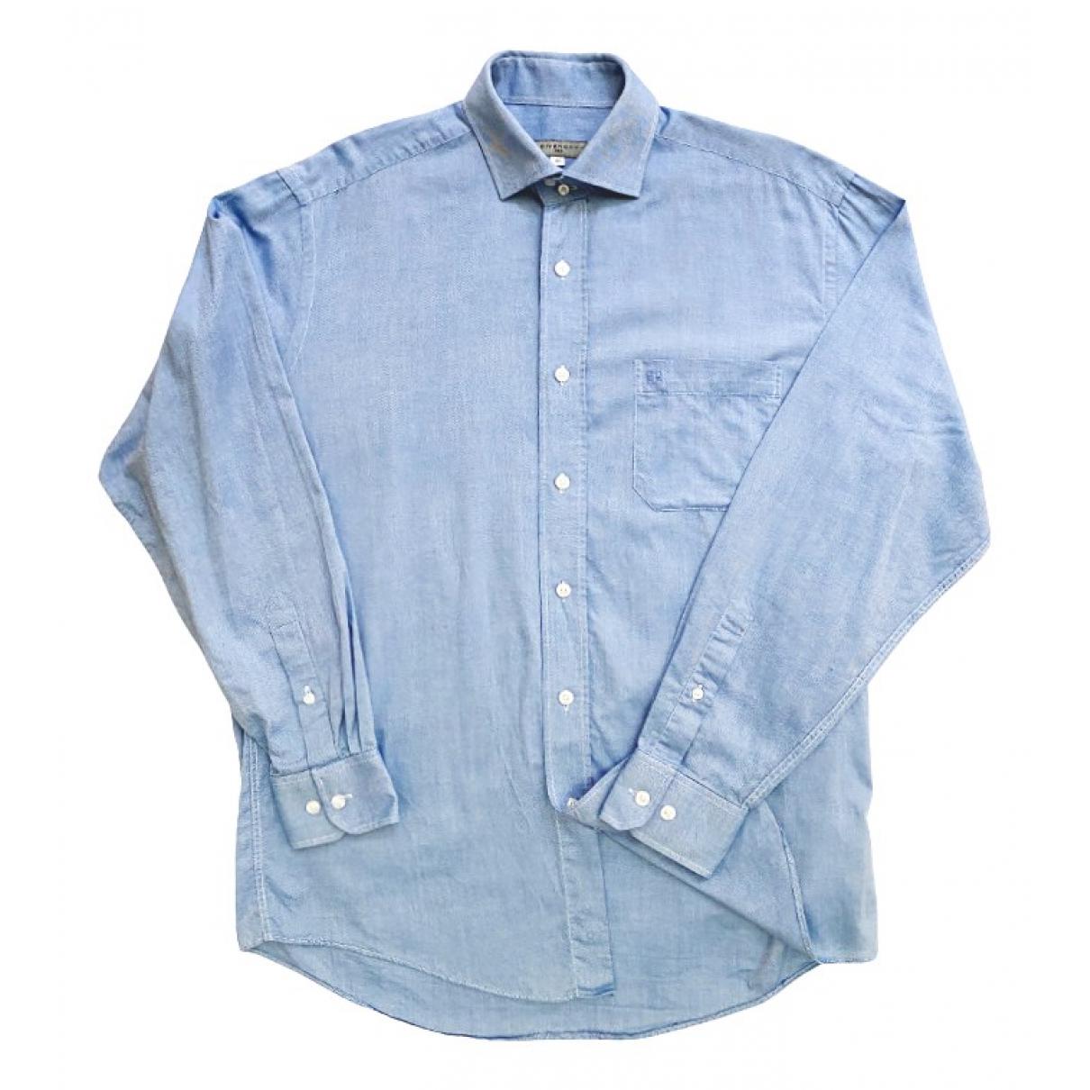 Givenchy \N Blue Cotton Shirts for Men 41 EU (tour de cou / collar)