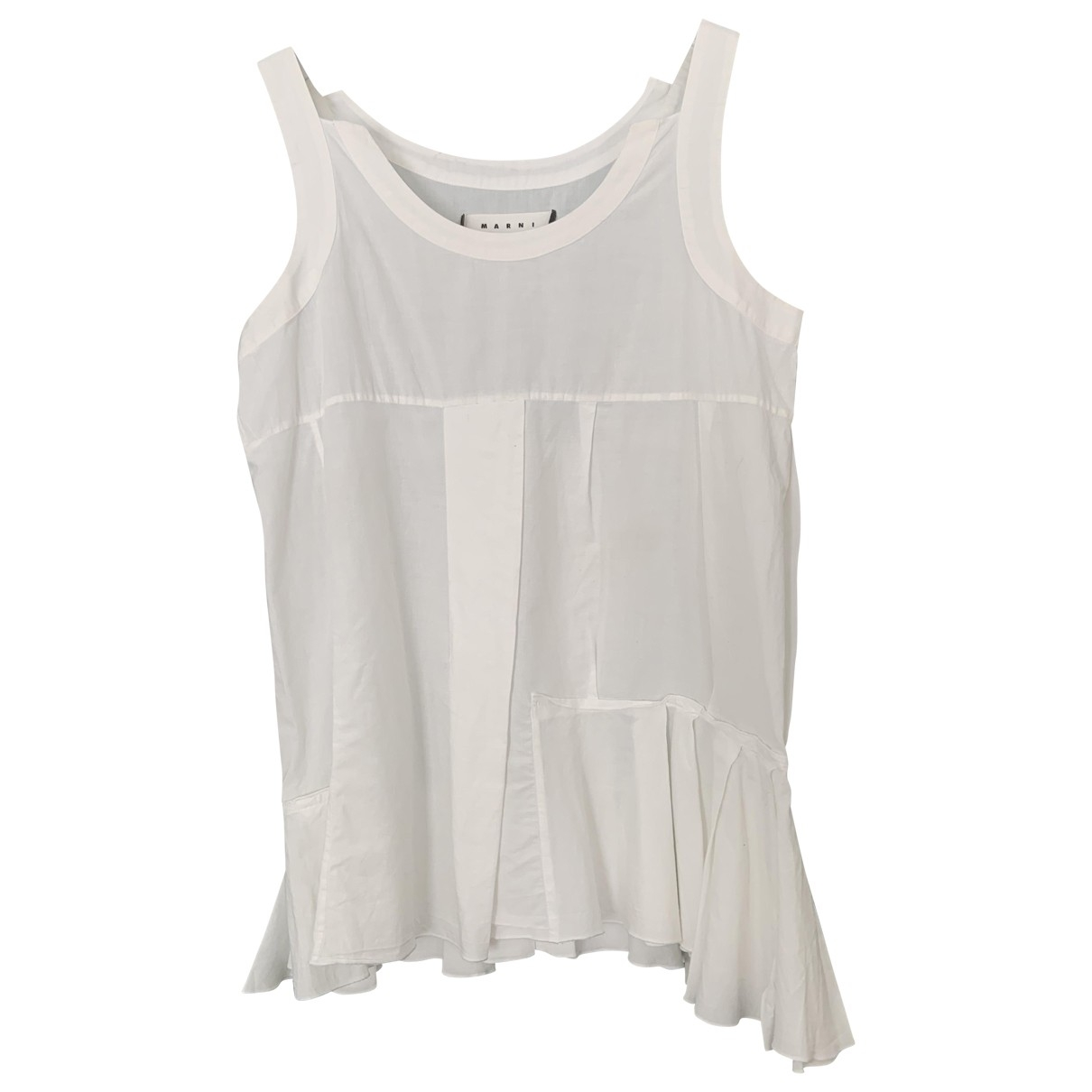 Marni \N White Cotton  top for Women 40 IT