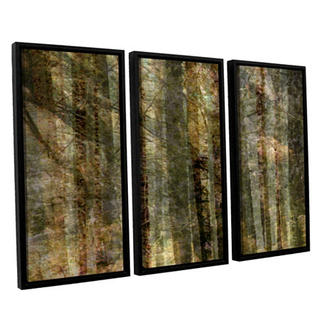 Brushstone Wood For The Trees 3-pc. Floater Framed Canvas Wall Art, One Size , Black