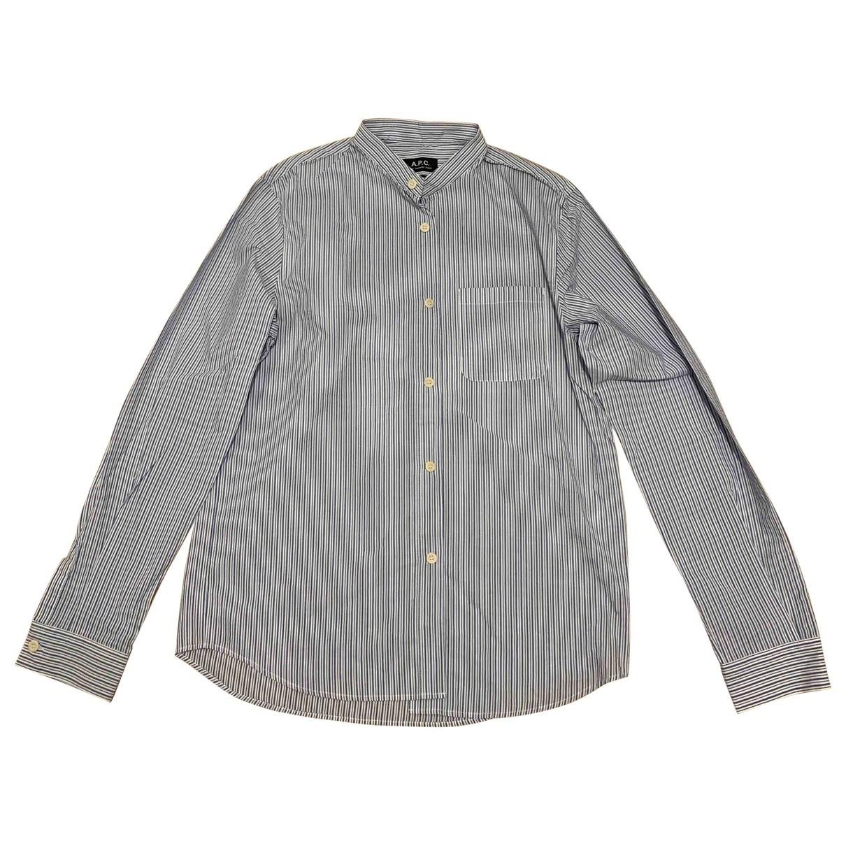 Apc \N Blue Cotton Shirts for Men M International