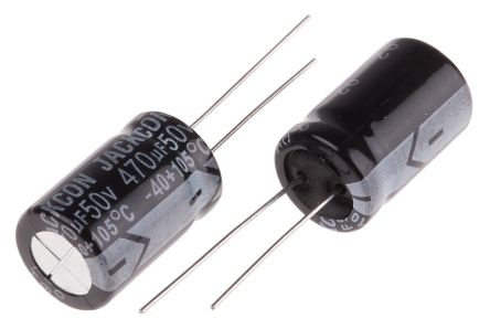 RS PRO 470μF Electrolytic Capacitor 50V dc, Through Hole (10)