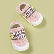 Baby Maedchen Sneakers mit Buchstaben Grafik und Klettverschluss