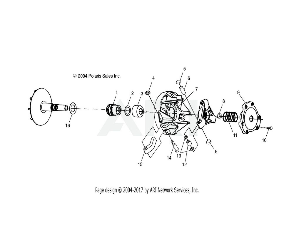 Polaris OEM 5131646 SPACER Substituted by 5631119