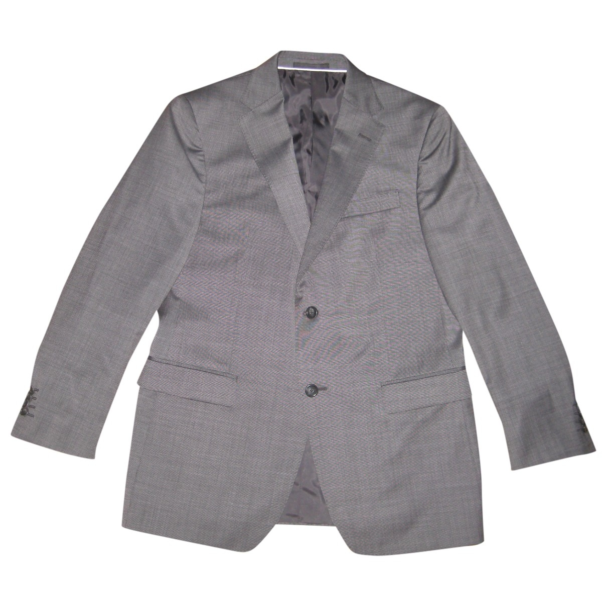 Z Zegna \N Anthracite Wool Suits for Men 50 IT