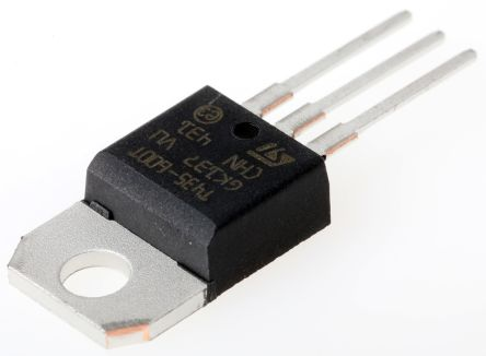 STMicroelectronics T435-600T 4A, 600V, TRIAC, Gate Trigger 1.3V 35mA, 3-pin, Through Hole, TO-220AB (5)