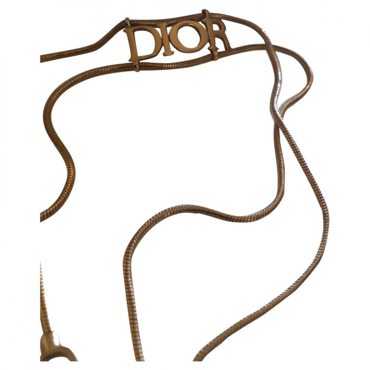 Dior - Collier   pour femme en plaque or - dore