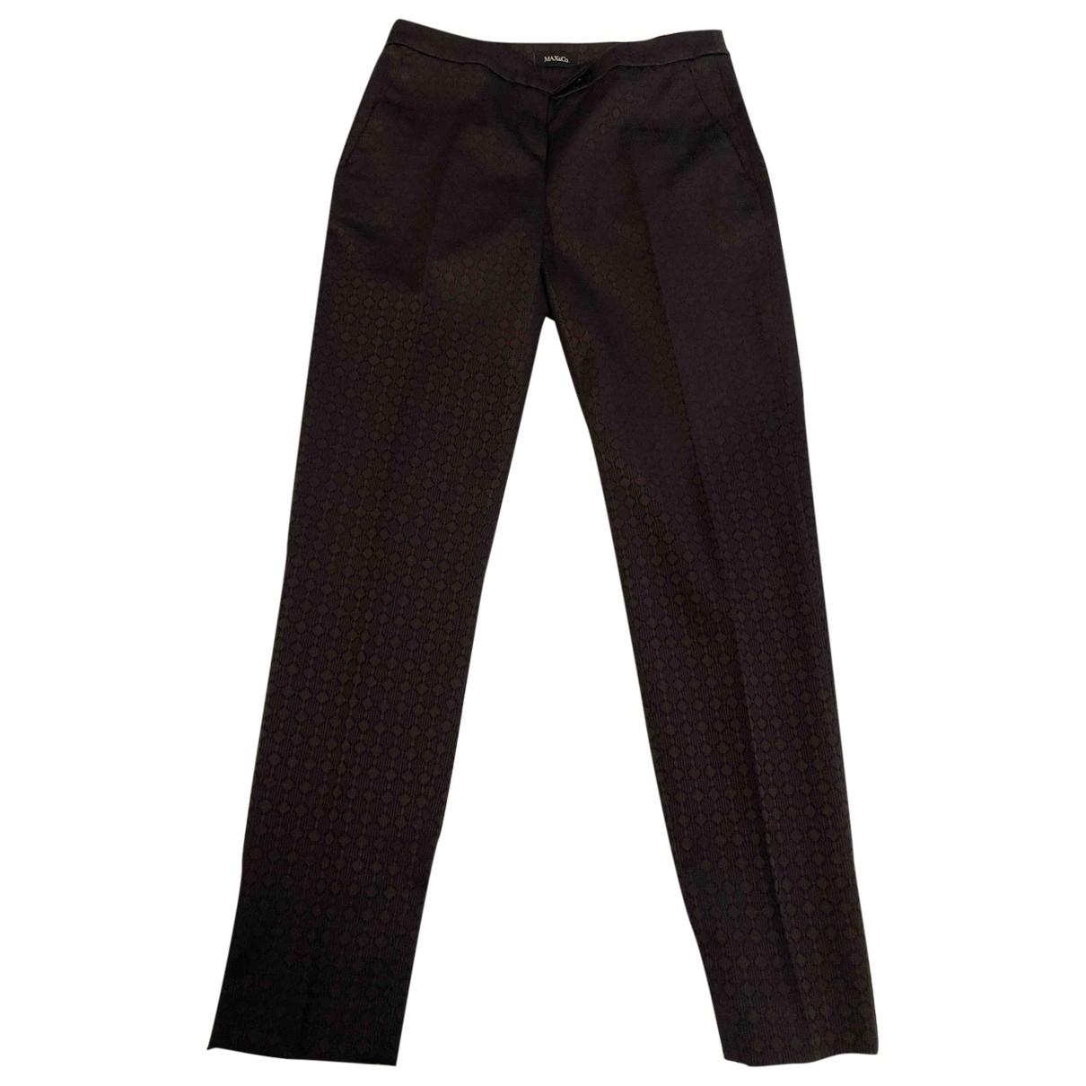 Max & Co \N Multicolour Cotton Trousers for Women 40 IT