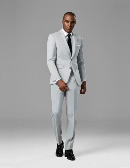 Mens Cement Gray best Suit buy one get one suits free Suit