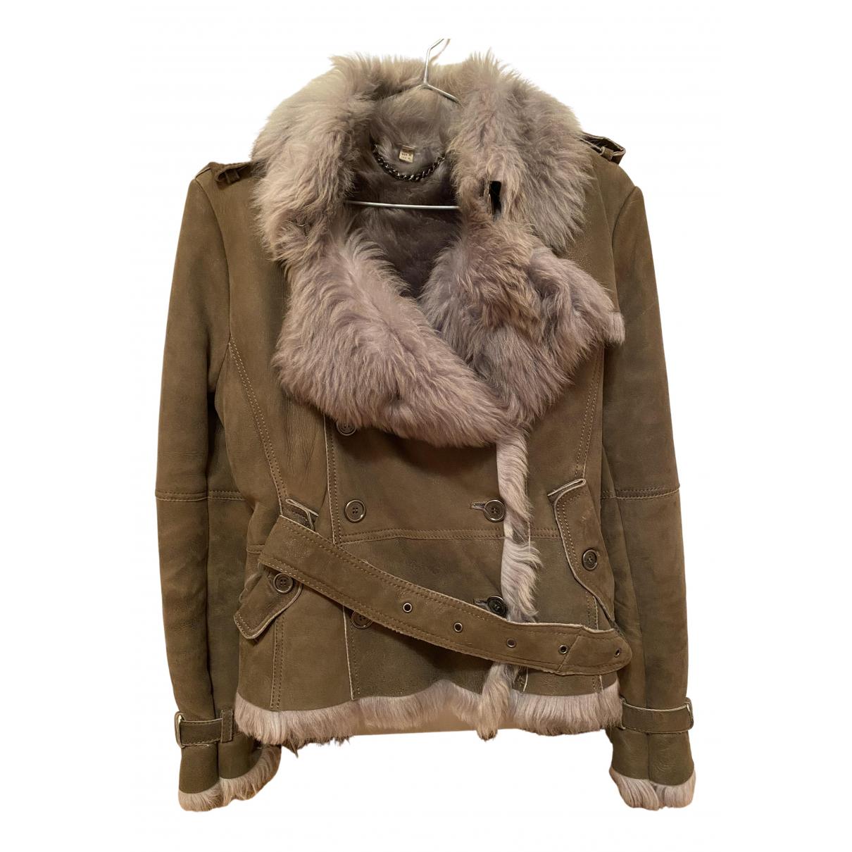Burberry - Veste   pour femme en mouton - gris