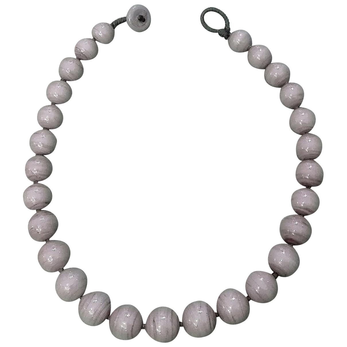 - Collier Motifs Ethniques pour femme en verre - violet