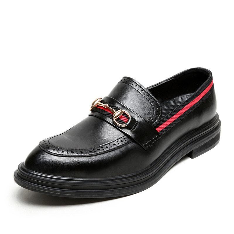 Ericdress Color Block Low-Cut Upper PU Men's Leather Shoes