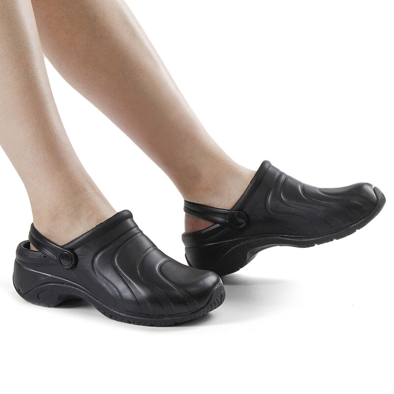 Women Comfy Eco-friendly Rubber Solid Color Black Slingback Flats