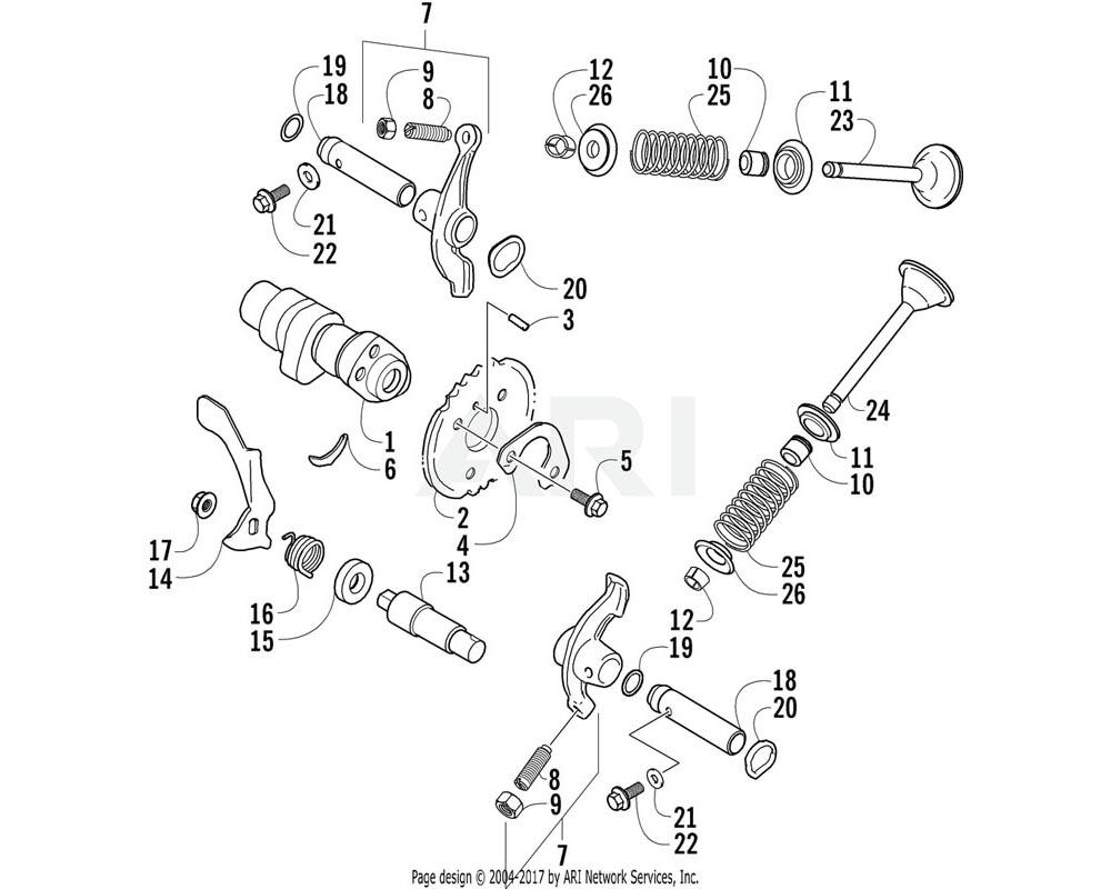 Arctic Cat OEM 3402-288 Arm Valve Rocker | (Inc. 8 9)