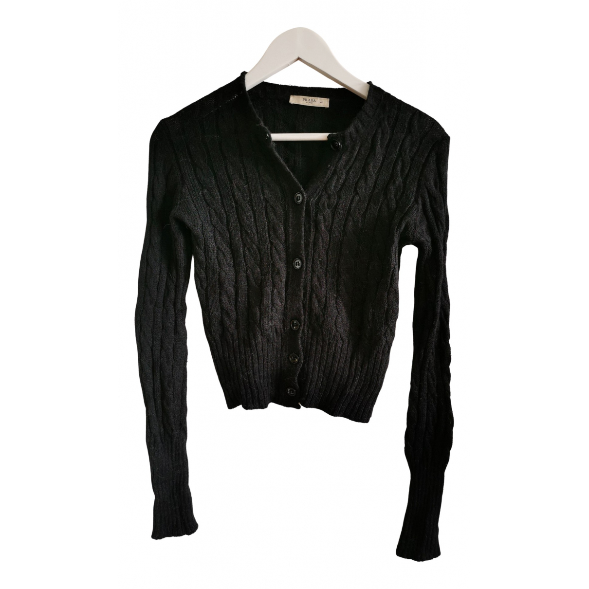 Prada \N Pullover in  Anthrazit Wolle