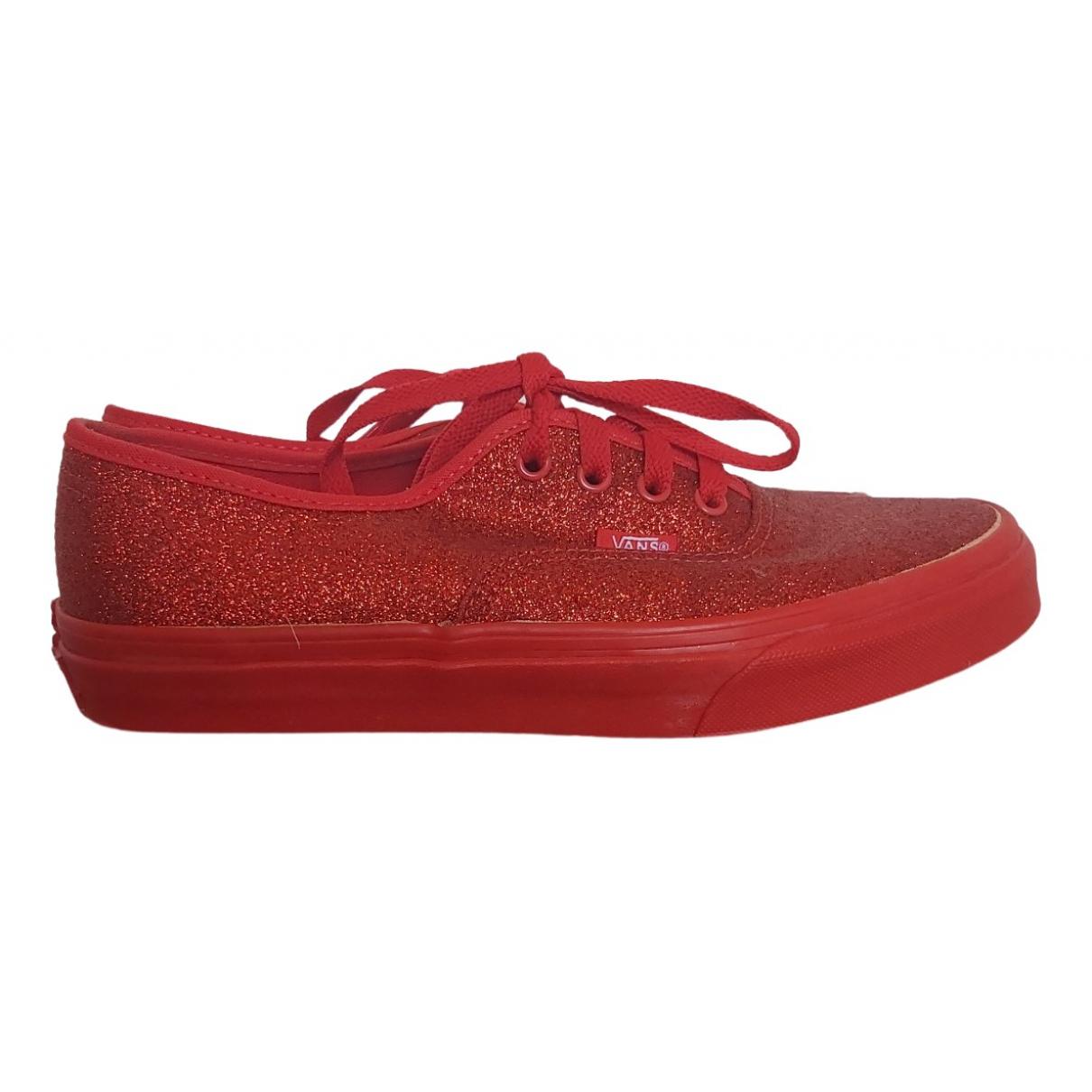 Vans \N Sneakers in  Rot Kautschuk