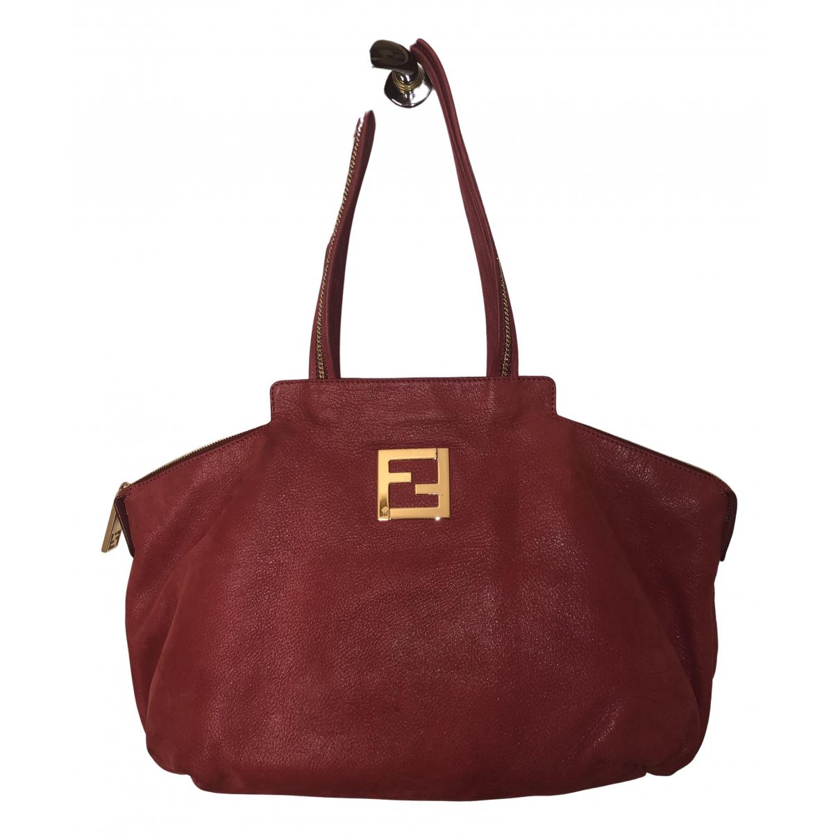 Fendi \N Handtasche in  Rot Veloursleder