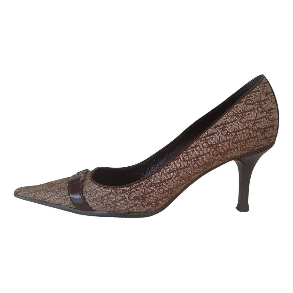 Dior - Escarpins   pour femme en toile - marron