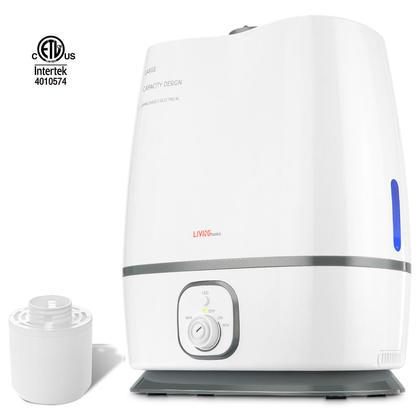 Humidificateur à Vapeur Froide Avec Filtre 6L/1.6 Gallon Blanc - LIVINGbasics™