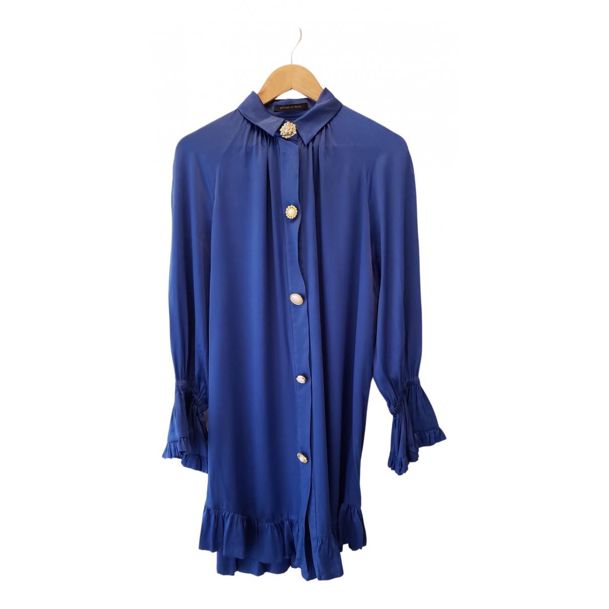 Mother Of Pearl \N Kleid in  Blau Seide
