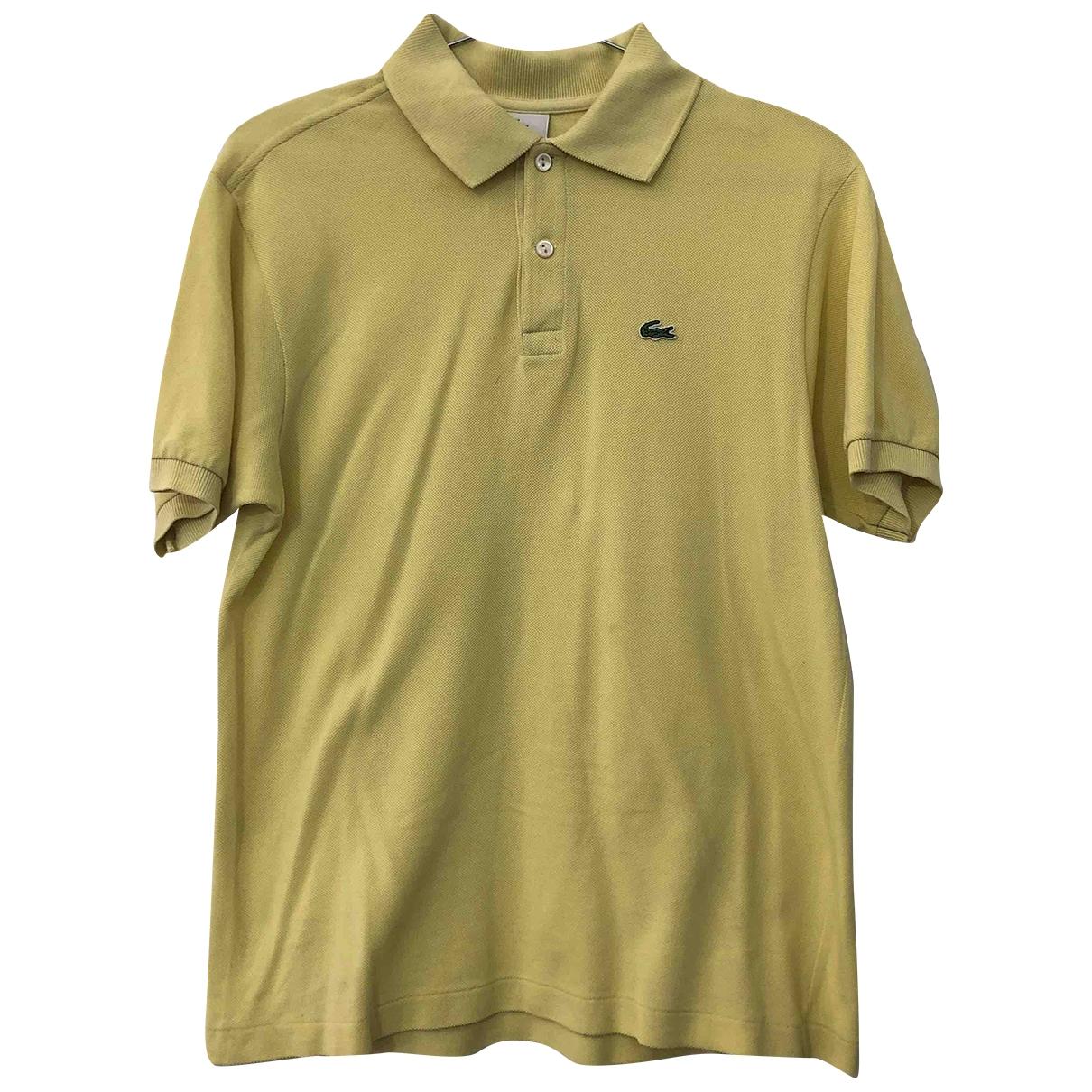 Lacoste - Top   pour femme en coton - jaune