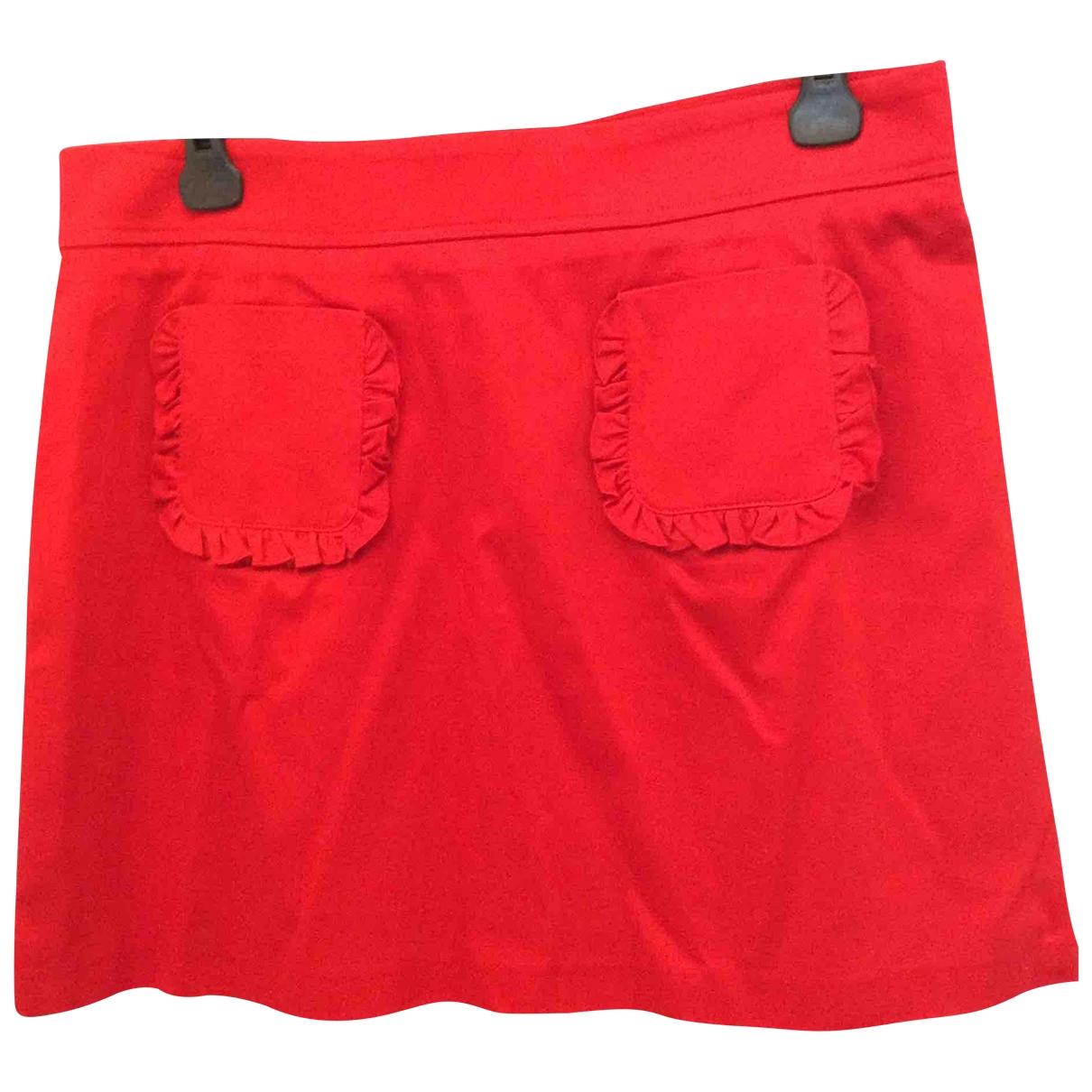 Tara Jarmon \N Red Cotton - elasthane skirt for Women 44 FR