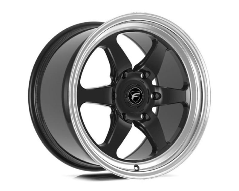 Forgestar F0A177081P10 D6 Drag Wheel 17x7 6x127 10mm Gloss Black w/ Machined Lip
