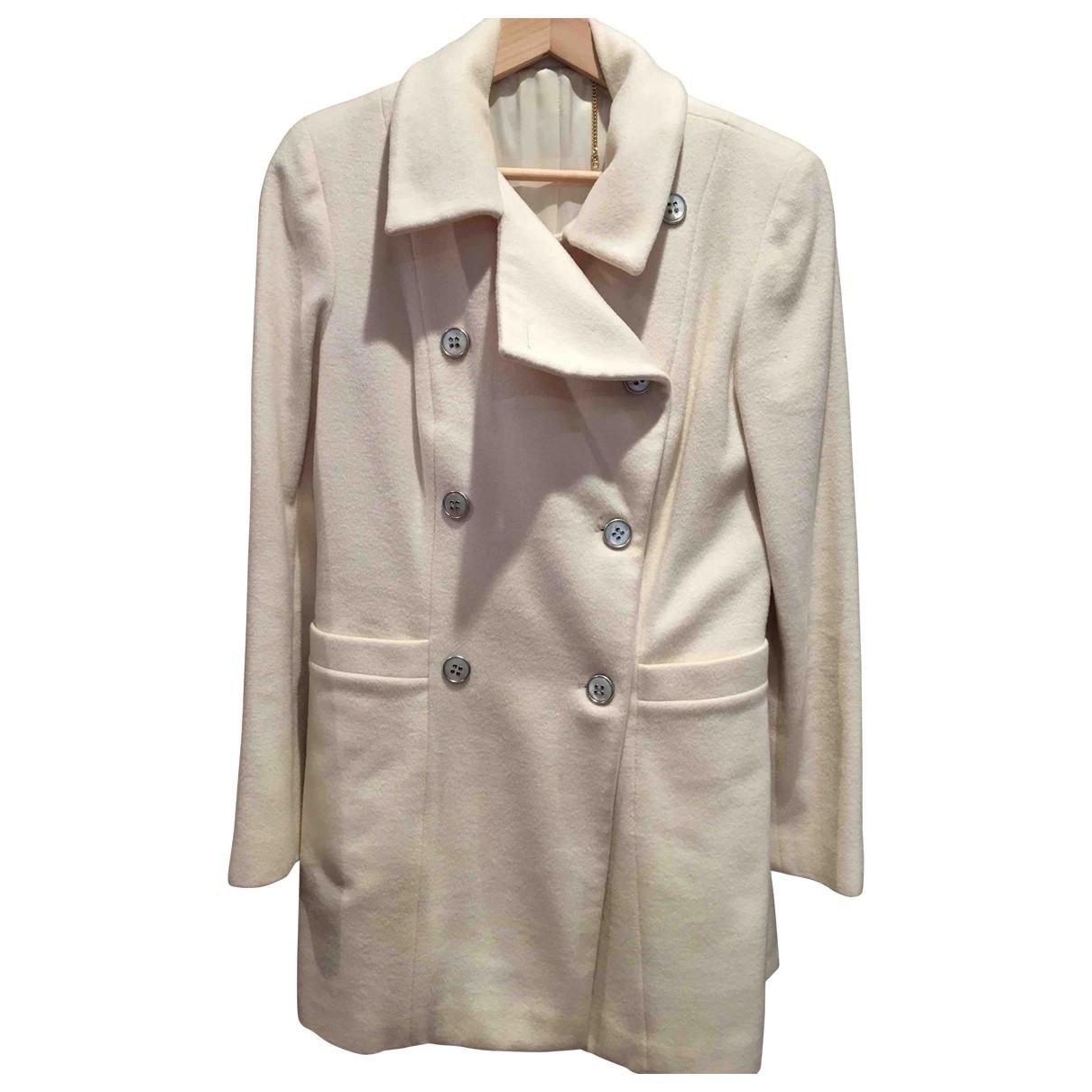 Blumarine - Manteau   pour femme en laine - blanc