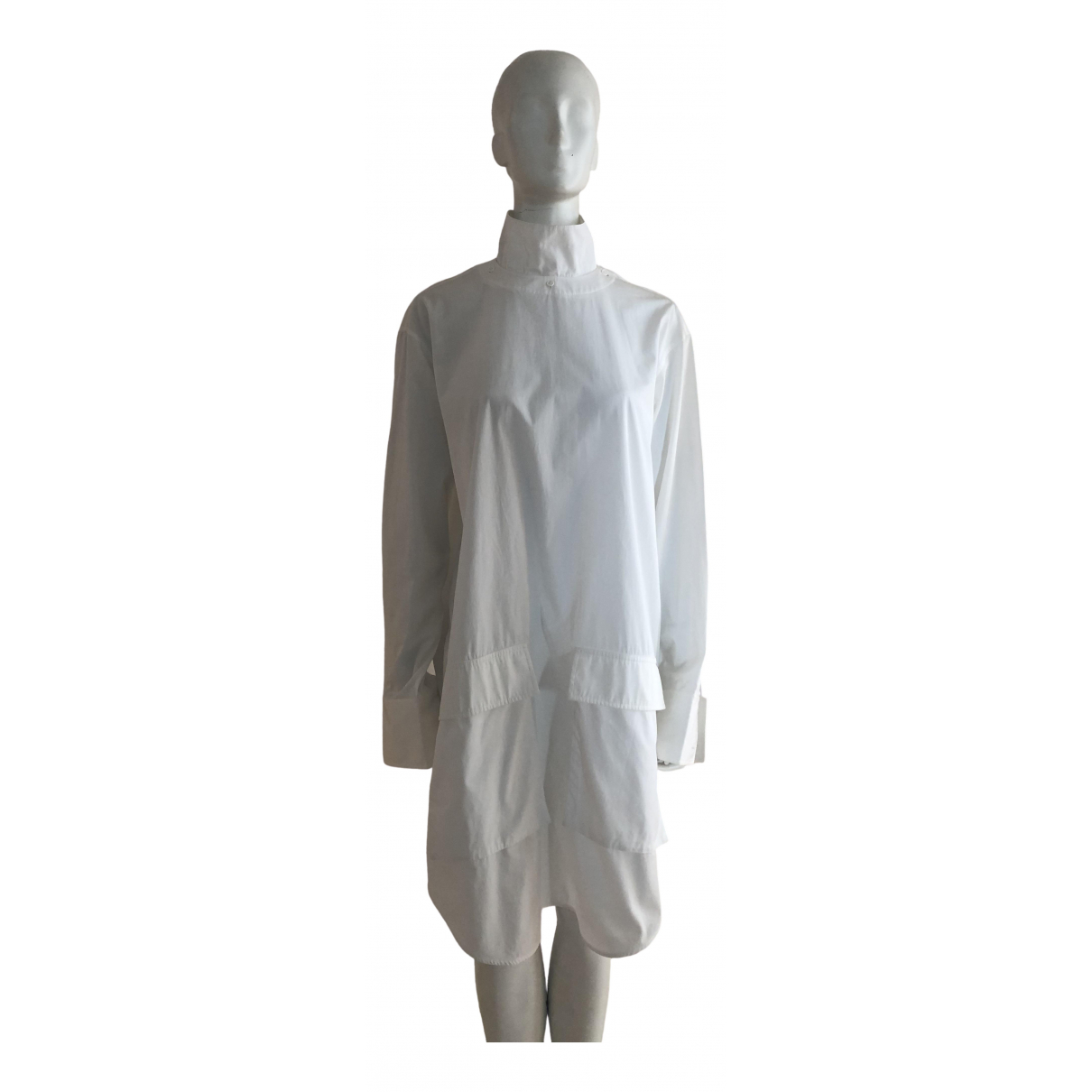 Celine \N White Cotton dress for Women 36 FR