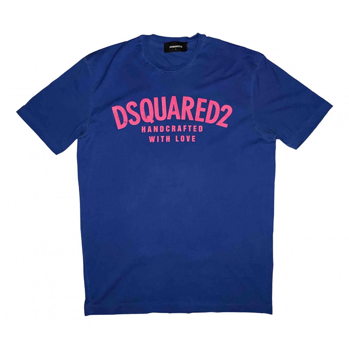 Dsquared2 - Tee shirts   pour homme en coton - bleu